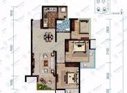 保利香雪国际建筑面积83㎡三室两厅一卫