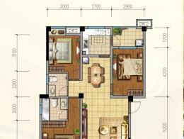 C1户型 118.72平米 3室2厅2卫