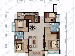 保利香雪国际建筑面积118㎡三室两厅双卫