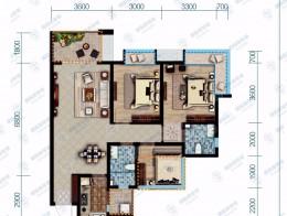 保利香雪国际建筑面积95㎡三室两厅双卫
