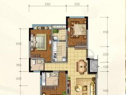 H1户型 120.66平米 3室2厅2卫