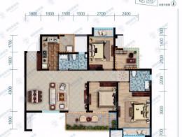 保利香雪国际建筑面积114㎡三室两厅双卫