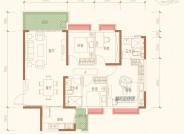 A三室两厅两卫建筑面积约123.03