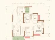 B户型建筑面积约85.33㎡三室两厅单卫