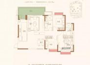 A三室两厅两卫建筑面积约121.75
