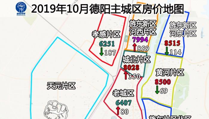 德阳楼市10月房价地图,房价排行榜现9字头楼盘