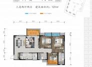 B2建筑面积约121㎡三室两厅两卫