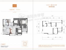 H2建面约110.32㎡三室两厅两卫