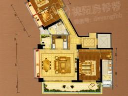 A1户型建筑面积约198㎡三房两厅三卫