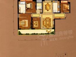 A2建筑面积约158㎡四房两厅两卫