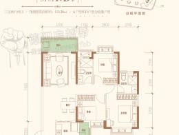31#楼AD户型建筑面积约113.2㎡三室两厅两卫