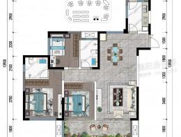 F2约117㎡三房两厅双卫