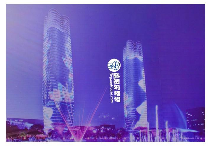 不必羡慕成都金融城双子塔,这是德阳的未来之门双塔
