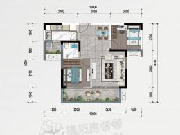 F3约70㎡两房两厅单卫