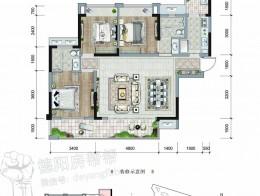 A1建面约115㎡三房两厅双卫三四号楼