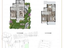 叠墅E1建面约110㎡四室两厅三卫