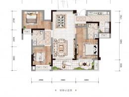 A2建面约107.15㎡三房两厅双卫