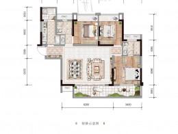 A1建面约115.05㎡三房两厅两卫