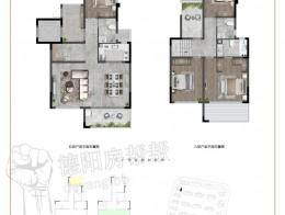 叠墅D3建面约136㎡四室两厅三卫
