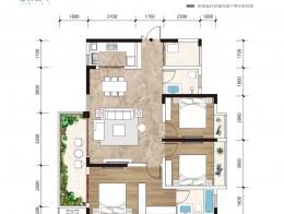 A3 建面约113.58㎡ 三室两厅双卫