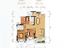 C2 建面约110.29㎡ 三房两厅双卫