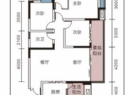 7号楼D2户型三室两厅两卫约118.02㎡