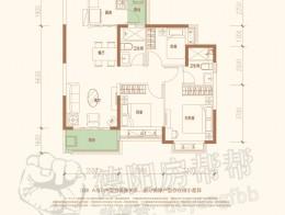 33#AD户型100㎡三室两厅两卫