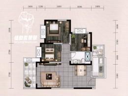 98.72㎡三室两厅一卫