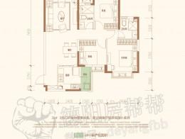 33#BC户型112㎡三室两厅两卫