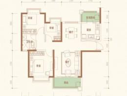 7#C户型109.27㎡三室两厅一卫