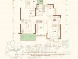 39#BC户型109㎡三室两厅两卫